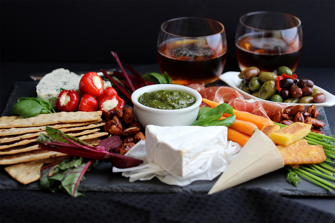 Sharing platter food photography