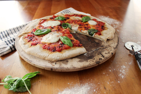 Buckwheat and spelt pizza base